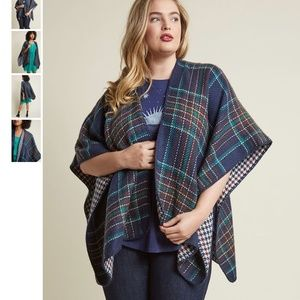 NWT MODCLOTH Cozy Campside Reversible Shawl